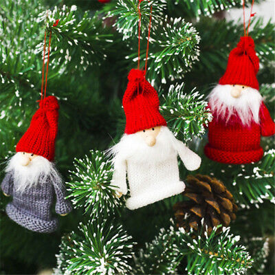 New Year Christmas Wine Bottle Cap Set Cover Hanging Ornaments Hat Xmas Dinner Z