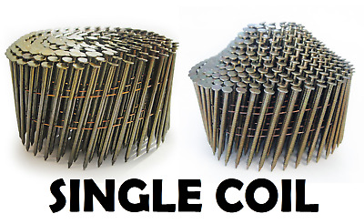 Galv & Bright Wire Collated 16º Coil Nails, Flat & Conical (Dome) - Single Coil