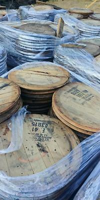 LARGE STAMP!! Authentic Bourbon Whiskey Whisky Barrel Head/Top/Lid/End Oak