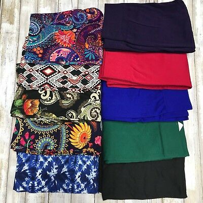 NEW - LOT OF 10 Mystery Leggings Prints & Solids OS , PLUS