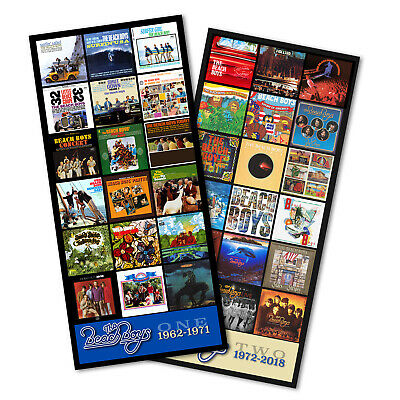 "THE BEACH BOYS twin pack discography magnet set (two 5.5"" x 3.5"" magnets)"