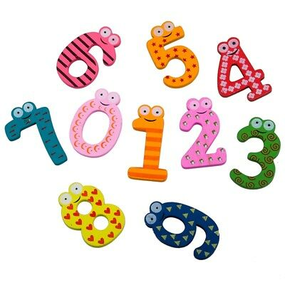 1X(Colourful Wooden Magnetic Numbers Fridge Magnet Toy,NUMBERS Educational E0L8
