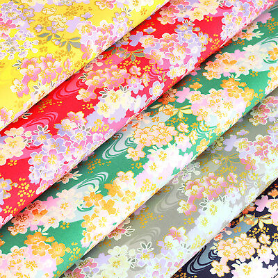 Japanese Cotton Fabric by FQ Oriental Floral River Dress Quilting Patchwork VJ36
