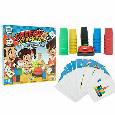 Speedy Stackers Kids Cup Family Playing Card Speed Stacking Game For 2-6 Players