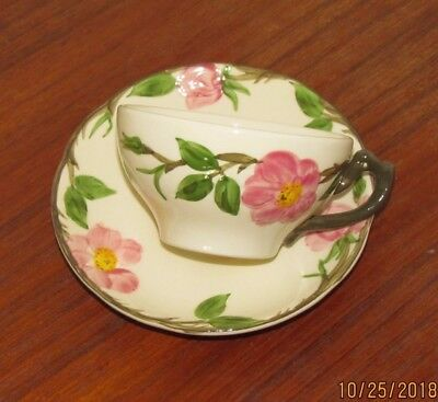 Franciscan Desert Rose Coffee or Tea Cup and Saucer - Made In USA