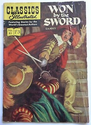 Classics Illustrated  Magazine No. 83  Won By The Sword by G.A. Henty