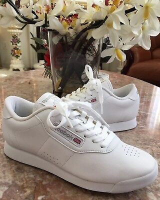 New Reebok Classic Ortholite Men's All White Athletic Sneakers Sz 8 #1Y3501 716