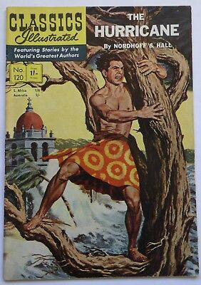 Classics Illustrated Magazine No. 120     The Hurricane by Nordhoff & Hall