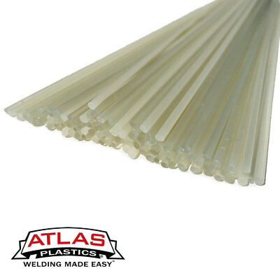 PVC Plastic Welding Repair Rods-20ft, 10PK (12in x 3mm Translucent Clear)