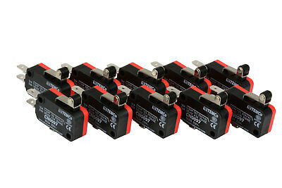 10 pc TEMCo Micro Limit Switch Short Roller Lever Arm SPDT Snap Action home LOT