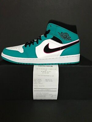 NEW DS Nike Air Jordan Retro 1 Mid South Beach Turbo Green Hyper Pink 852542-306