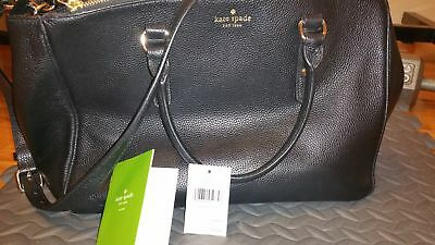 3295605ac43 KATE SPADE LEIGHANN Mulberry Street Black Leather Satchel Bag ...