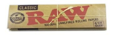 One Pack of Classic 1 1/4 Raw Natural Unrefined Rolling Papers