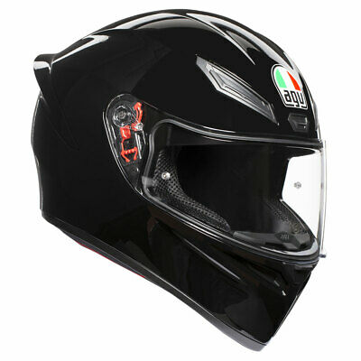 AGV K1 Black Full Face Sports Motorcycle Motorbike Helmet