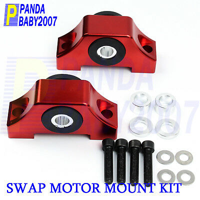 Honda Civic Del Sol Integra Engine Motor Mounts EG DC B16 B16A B18 B18C RED