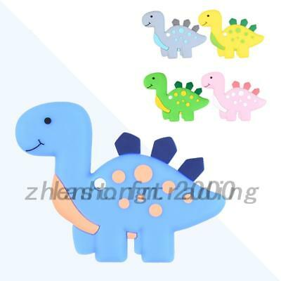 Baby Dinosaur Pendant Teething Necklace Safety Teether Autism Sensory Chew Toy