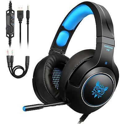 PS4 cuffie Gaming Headphone per Xbox One PC Switch PS4 Tablet con LED Light Mic