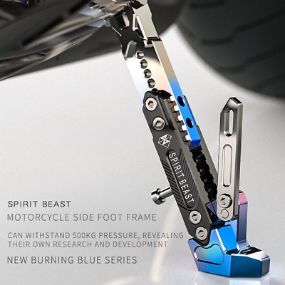 SPIRIT BEAST Motorcycle Side Stand Lift Pad Kickstand Plate For Harley Honda BMW