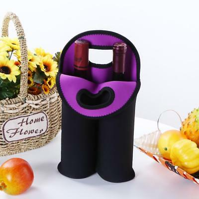 Portable Hand-held Neoprene Cooler Wine-bottle Bag Protective Sleeve Cover