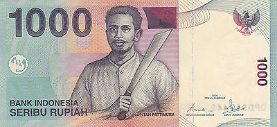 INDONESIA: 1000 RUPIAH, 2000/2008. P-141i. Crisp uncirculated. Kapitan Pattimura