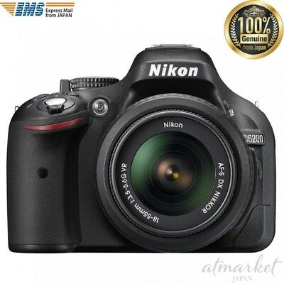 Nikon Digital SLR Camera Lens Kit AF-S DX NIKKOR 18-55mm f/3.5-5.6G VR D5200LKBK