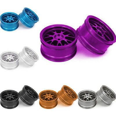 4pcs Aluminum Alloy Spoke Hub Wheels Rims For RC 1/10 On-road Touring Drift Car