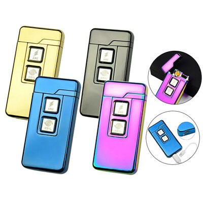 Dual-use Electronic Usb charge Dual Arc Windproof Flameless Cigarette Lighters