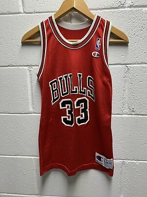 e683138bf SCOTTIE PIPPEN #33 Chicago Bulls Vintage Black Champion Youth XL 18 ...