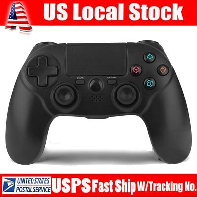 Black PlayStation 4 Dualshock 4 Wireless Gamepad Controller (For Sony) NEW OY