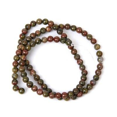 1X(2 Pieces Artificial Gemstone Round Lose Bead Strand 4mm / 15.5 inches M2K1)