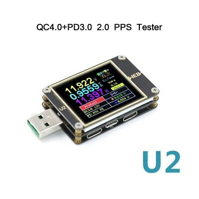 USB Current/Voltage Meter QC4+ PD3.0 2.0 PPS Fast Charge Protocol Tester WEB-U2