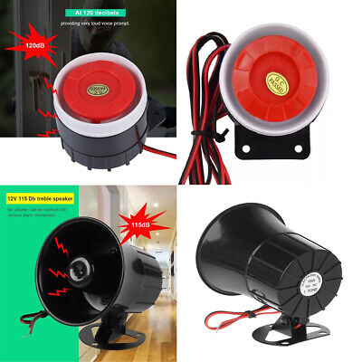 Wired Loud Alarm Siren Horn Outdoor 12V DC For Home Security Protection System