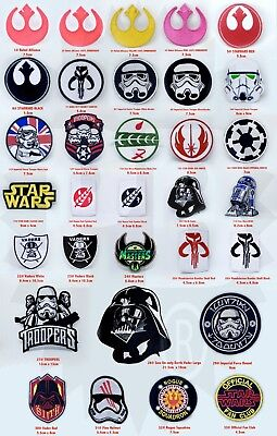 STAR WARS MOVIE CARTOON Collection embroidered iron on badges Patches