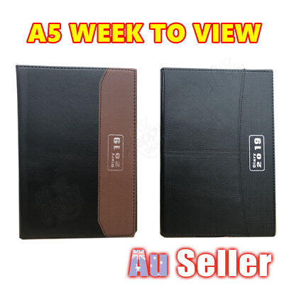 A5 2019 Diary PU Leather Week To View Personal Organiser Appointment Planer