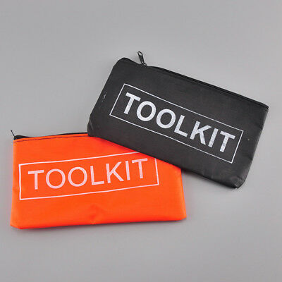 Waterproof Canva Cloth Tool Kit Bag Zip Storage Instrument Case Pouch Applied