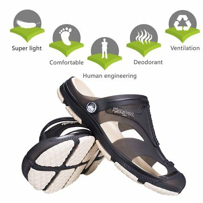 Comfortable Men Summer Slipper Hole Hollow Out Ventilating Beach Shoes Sandals S