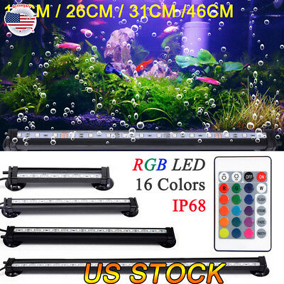 5050 RGB Waterproof Air Bubble Lamp LED Aquarium Tank Light Submersible Light
