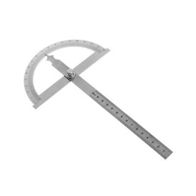 1*Easy Stainless Steel Protractor Angle Finder Scaleplate Ruler Measuring Device