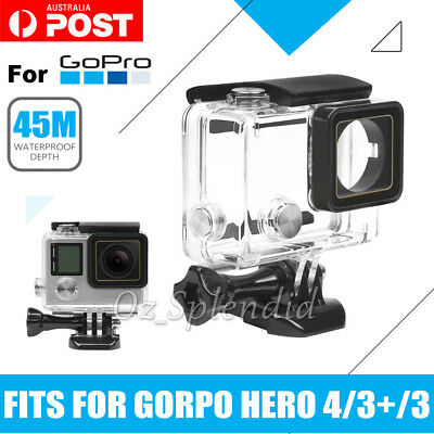 NEW Waterproof Diving Protective Housing Clear Case For GoPro Hero 3 3+ 4 Camera