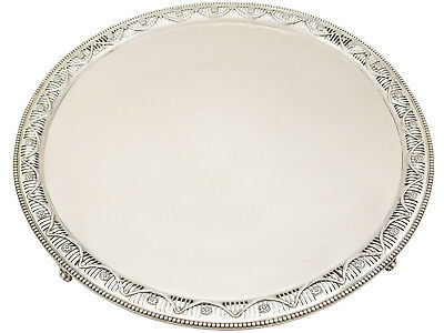 Sterling Silver Salver by William Wrangham Williams - Antique Victorian 2986g
