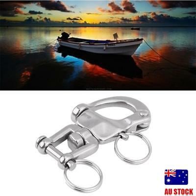 Large Durable 316 Stainless Steel Snap Shackle Quick Release Swivel Bail Rigging