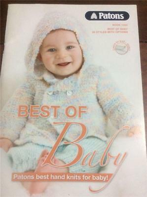 Patons Knitting Pattern Book 1293 Best of Baby , Best hand knits for Baby Knit