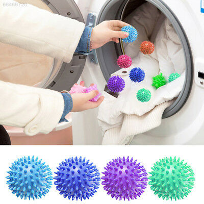 AFC8 Plastic Faster Washing Dryer Balls No Chemical Fabric Wash Clothes Clean