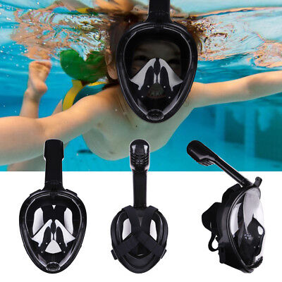 Kids 180 View Panoramic Beach Snorkel Mask Snorkeling Full Face with Gopro Mount