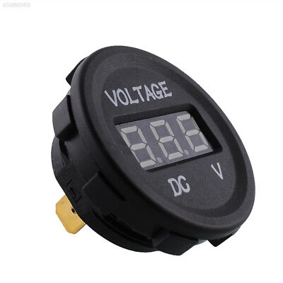 DAE0 12V 24V Waterproof Car Motorcycle Blue LED Digital Display Voltmeter Portab