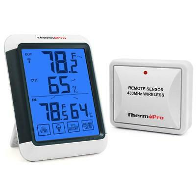 Wireless Thermometer Gauge Temperature Monitor For Home Comfort Remote FREE P&P