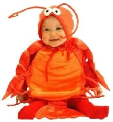 Baby's Lobster Costume, Red/Orange, fits size 6-18 months