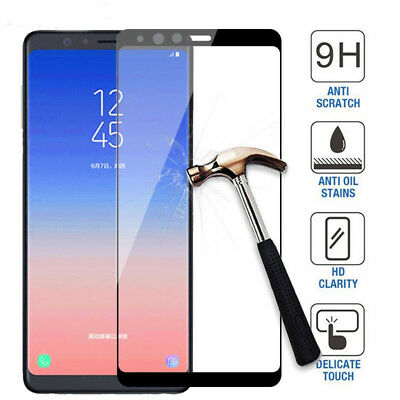 Samsung Galaxy A9 A6 A7 A8 Plus 2018 Full Cover Tempered Glass Screen Protector