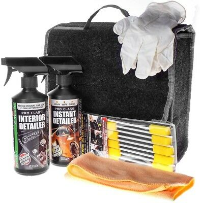 E-Tech 6pce Car Interior & Exterior Detailing Wash Cleaning Valet Kit GIFT IDEA