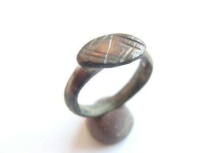 Amazing Ancient CELTIC Engraved Billon Children's Finger Ring > La Tene Culture*